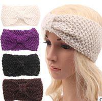 Wholesale Women Autumn Winter Knitted Hair band New Keep warm Headbands Women Fashion Nice Hair Headbands z18A34