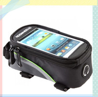 Wholesale Roswheel Bike Bicycle Frame Front Tube Bag Transparent PVC with Audio Extension Line for Inch Cellphone