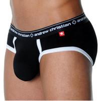 men's underwear - Colors Andrew Christian Male Underwear Men s Breathable Briefs Men s Cotton Underpants