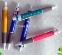 ballpen printing - New customized office promotion ballpen blue ballpoint pen with logo printing cheap gift pen