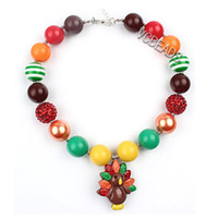 Wholesale Photography Props Baby Fancy Jewelry Gumball Necklaces Christmas Decoration Candy Colors Chunky Necklaces Beaded Necklaces for Girls Kids