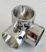 Wholesale Tee Pipe fittings Stainless Steel Racks For Hanging Clothes Holder mm Shelf Connector Corner pieces