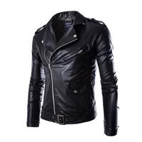 Wholesale Black Fashion Men PU Leather Jacket Riding Clothes Man Jacket Male Coat Men s Jackets Veste Homme Manteau Hiver Homme
