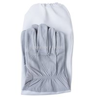 beekeeping gloves - Pair of Beekeeping Protective Gloves with Vented Long Sleeves Grey and White E6054