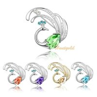 Wholesale Unique Bird Brooch High Quality Women Lady Girls Retro Phoenix Scarf Buckle Crystal Pin Brooch