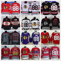 Wholesale Men s Chicago Blackhawks Jerseys Stadium Series Patrick Kane Jersey Red White skull Black Winter Classic ice hockey jerseys