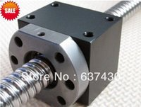 ball bearing nut - HD12 nut housing black match with SFU1204 ball screw nut mm bore size only nut bracket