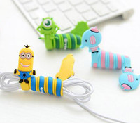 Wholesale 2016 new Computer Accessories Kawaii Cartoon Animal Long Cable Winder Headphone Earphone Organizer Wire Holder