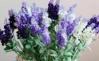 Wholesale 10 Bundles Artificial Lavender Garland Ball Silk Flower Home Wedding Garden Decoration