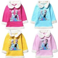 Wholesale Bala_bala Autumn Winter Cotton Sweaters for Children Girl s Frozen Tops Kids Girl s Nice Lovly Clothing Pullover Shirt B