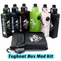 metal box - Tugboat Box Mod Kit Tuglyfe Unregulated Box Mod Starter Kit Matching RDAs Clone PEEK Aluminum Body With MOSFET fit Batteries DHL Free