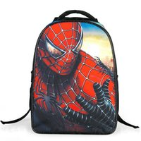 Wholesale 2015 New Stlye Children s Cartoon School Bags Spider Man The Avengers Shoulders Bags Burdens Male Students Design Backpacks Schoolbag