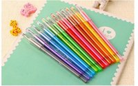 Wholesale 2015 New Arrival Cartoon Fresh Candy Colors Diamond Color Gel Pen Creative Stationery Pens Pencils Writing Supplies