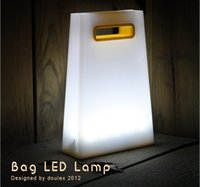 Wholesale Novelty touch practical night light a bag energy saving usb rechargeable reading lamps handbags book light movable illuminator