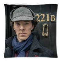 benedict cumberbatch - Sherlock Benedict Cumberbatch B Pillowcase x18 inch Zippered Pillow Cover