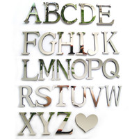 acrylic mirror letters - 2016 new acrylic sticker love characters letters home decoration english d mirror wall stickers alphabet logo