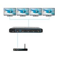 Wholesale 1 Input Output HDMI Video Splitter Connectors X1200 Resolution P High Definition HDMI Splitter Switches EL HS104T