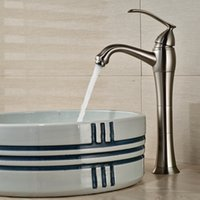 bathroom faucet brushed nickel - And Retail Tall Brushed Nickel Bathroom Basin Faucet Single Handle Hole Sink Mixer Tap Hot and Cold Water