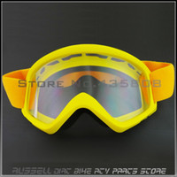 Wholesale NEW Yellow Off Road Cycling Goggle Motorcycle Glasses Scooter Dirt Bike Quad ATV MX colored lenses for eyes