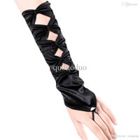 Wholesale Yummy Bee Long Satin Fingerless Evening Gloves Opera Ladies Burlesque Fancy Dress