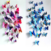 Wholesale Sticker Art Design Decal Wall Stickers Home Decor Room Decorations D Butterfly Sticker
