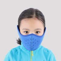 Wholesale TH04 Children s Winter Warm Cap Ski Half Face Mask Outdoor Sport Thermal Fleece Scarf Snowboard Hiking Motorcycle Mask