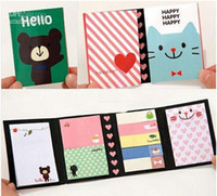 Wholesale 18 OFF Pieces New cute cartoon animals Notepad Memo pad Paper sticky note message post