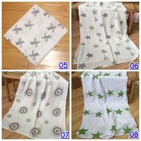 baby tie blankets - 120 cm inch Muslin Blanket Baby Aden Anais Swaddle Wrap Blanket Blankets Towelling infant Spring Summer Blanket