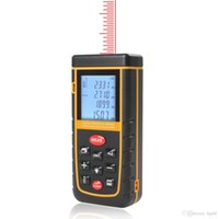 Wholesale 60m Handheld Laser Distance Meter m in ft Bubble Level Tool Range Finder INS_009