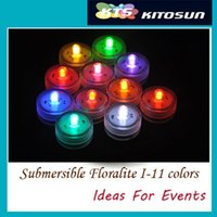 vendors - Factory Vendor pack Led Submersible Floralyte For Centerpieces and Flower Vases