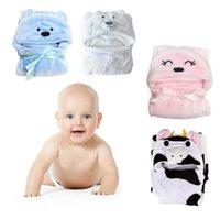Wholesale NEW Arrival Cute Animal Cartoon Baby Kid s Hooded Bathrobe Toddler Bath Towel K5BO