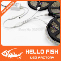 Wholesale 2pcs strip connector split Three in one RGB LED strips extension cable with pin connector for strips