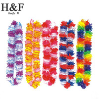 wreath supplies - flower artificial Hawaii Wreath Silk Flower Lei Party Supplies Garland Cheerleading Products Hawaii Necklace Manufacturer HH0023
