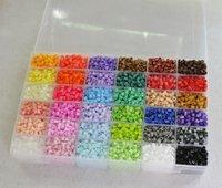 perler beads - 36 Colors Perler Beads mm Hama Beads Pieces Set Big Template Iron Papers Tweezers Fuse DIY Educational Toys Craft