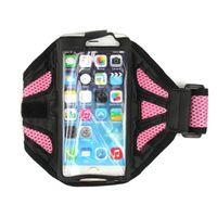al por mayor bolsa para el teléfono rosado-Brazal del deporte bolsa de la cubierta para el iPhone 6 Plus Samsung Galaxy Note 2 3 4 bolsa de Ejecución del teléfono celular del bolso del gimnasio Rosa