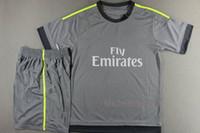 Wholesale New Arrival soccer club away grey uniform thailand quality football kits Fashion sports jersey men s designer tracksuit