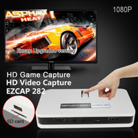 Wholesale New Arrival P HD Video Capture EZCAP HD Game Capture AV HDMI YPbPr Recorder into USB Disk SD card For Xbox PS3
