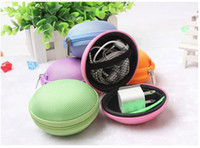 Wholesale Cute Small Multicolor Functional EVA and Fabric Bag for Earphone Storage Small Accessory Portable Little Bags