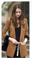Wholesale Autumn New Fashion Women s Boyfriend Blazer Basic Coat Outerwear Career Suit Plus Size Camel Black S M L XL