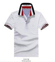 summer polo shirts - summer new lapel T shirt men s cotton printed men s short sleeve v neck t shirt polo shirt male Korean tidal