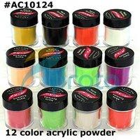 Cheap 2015 Freeshipping-12 Pots Different Color Acrylic Powder Dust Jumbo Set for Professional Nail Design SKU:C0027 vestido