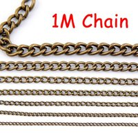 Wholesale Fashion Jewelry Findings Iron DIY Antique Bronze Chain findings width MM O chain Meter