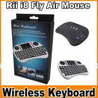 Wholesale Rii I8 Fly Air Mouse Mini Wireless Handheld Keyboard GHz Touchpad Remote Control For M8S MXQ MXIII TV BOX Mini PC OM CC3