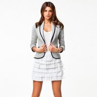 Wholesale 2016 blazer women suit blazer foldable jackets made of cotton spandex with lining Vogue refresh blazers