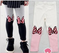 legging - 2015 Mickey Mouse Paillette Bowknot Sequins Beaded Butterfly Leggings Cotton Kids Clothes Tights Pants Children Legging Trousers D5479