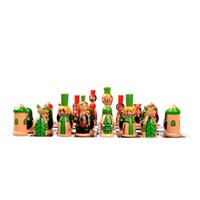 Wholesale Cute lovely kids educational wooden cartoon chess pieces with chess board
