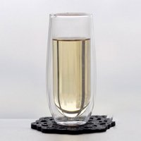 Wholesale Clear ml Double Wall Deck Glass Tea Cup Beer Wine Coffee Drinking Bar