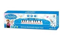 al por mayor music keyboard instrument-venta al por menor de instrumentos musicales de juguete niños Congelado niña de dibujos animados de juguete de teclado de piano del órgano electrónico del bebé con música electrónica de 8 canciones en la Educación