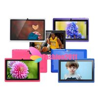 Wholesale 7Inch capacitive screen Allwinner A33 Quad Core Q88 Q8 Tablet PC Dual Camera Flashlight Android MB GB Wifi Google play store