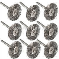Wholesale 10pcs Steel Wire Wheel Brushes for Dremel Accessories For Rotary Tools